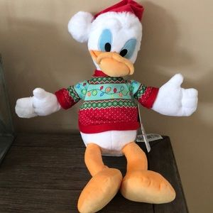 Disney Christmas Plush Santa Donald Duck w/ bell